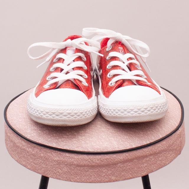 Converse Glitter Sneakers - EU 31 (Age 6 Approx.)