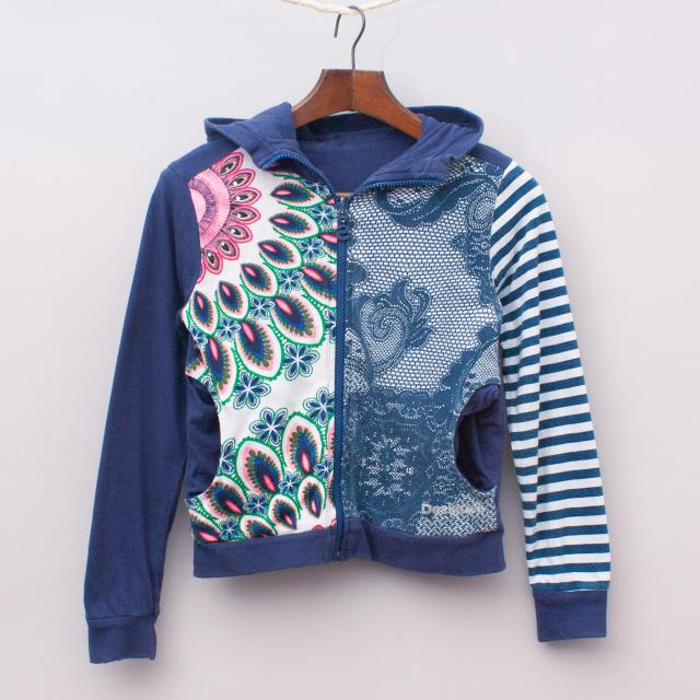 Desigual Reversible Hooded Jumper