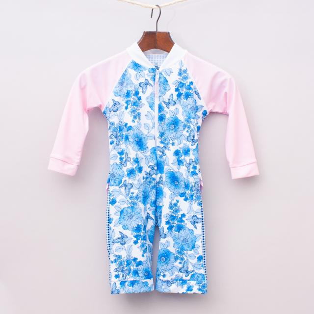 """Platypus Floral All In One Bathers """"Brand New"""""""