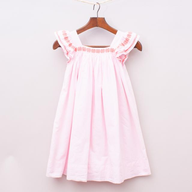 Country Road Embroidered Dress