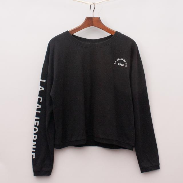 "Seed Black Long Sleeve Top ""Brand New"""