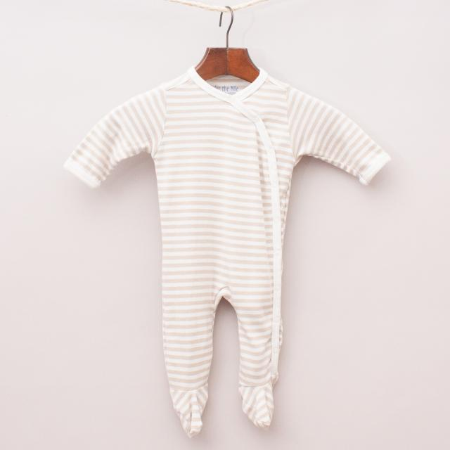 Under The Nile Organic Cotton Striped Romper