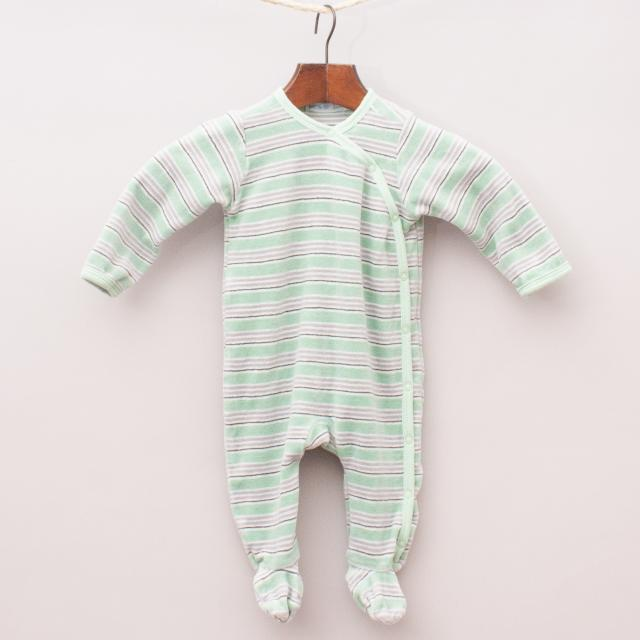 Under The Nile Striped Organic Cotton Romper