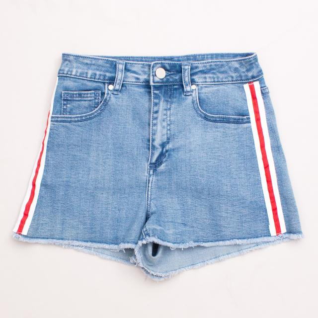 "Seed Striped Denim Shorts ""Brand New"""