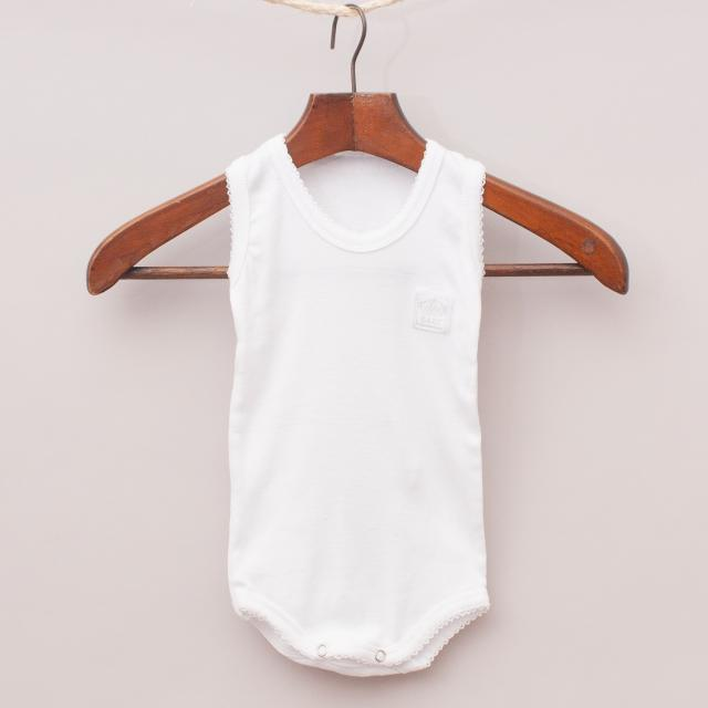 "Baby Plain White Romper ""Brand New"""