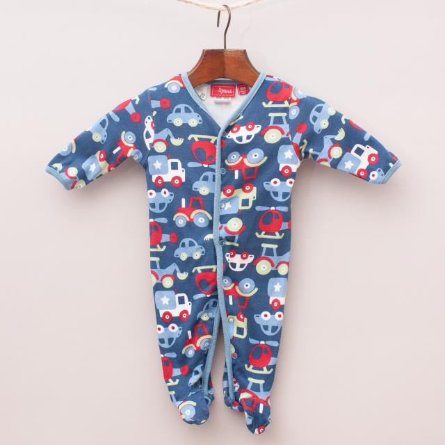 Sprout Cars Romper