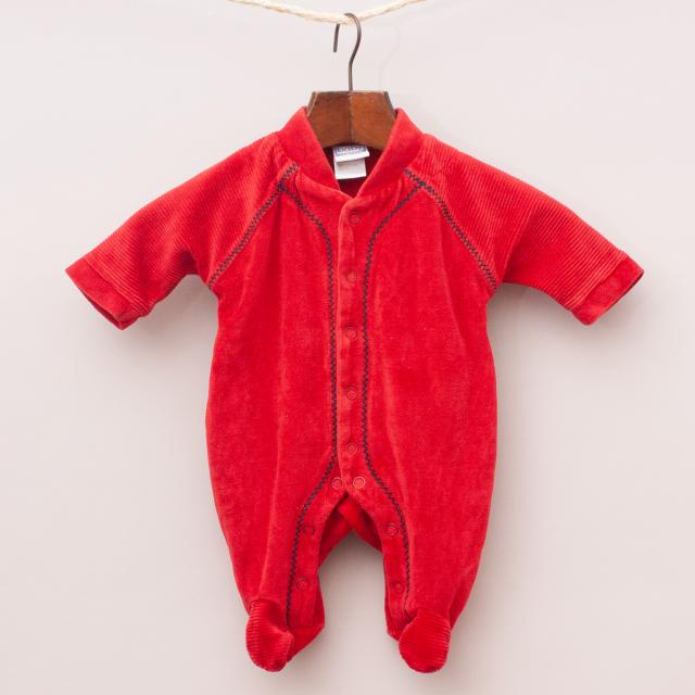 Baby Limited Velour Romper