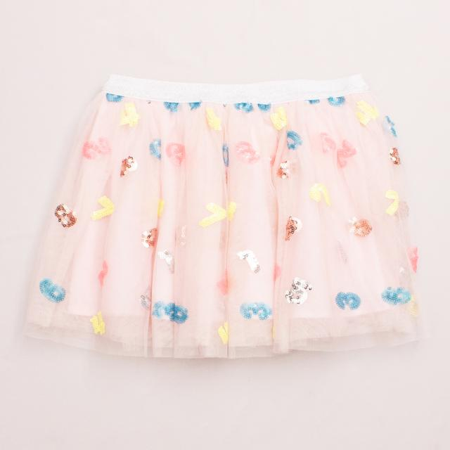 "Seed Tulle Embellished Skirt ""Brand New"""