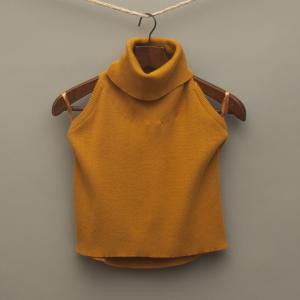 Mustard Knitted Top
