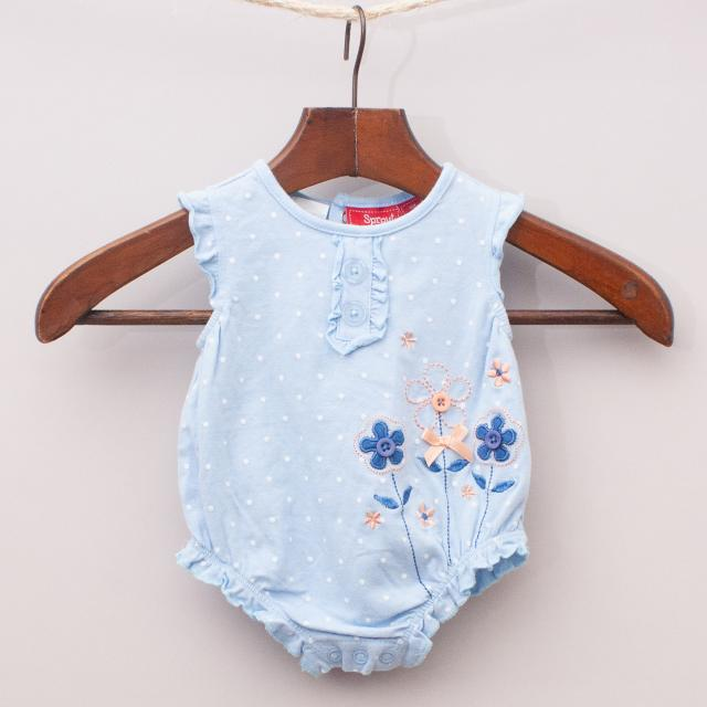 Sprout Floral Romper