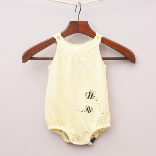 """Sprout Bumble Bee Romper """"Brand New"""""""