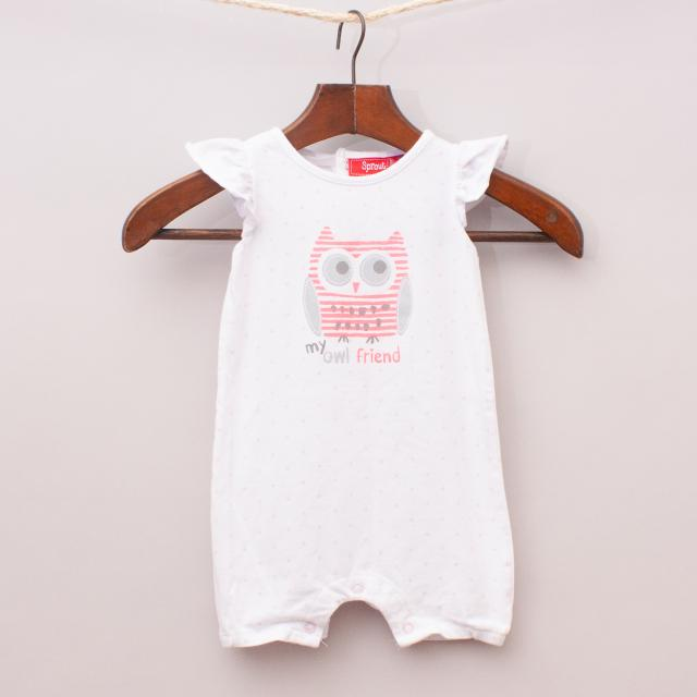 Sprout Owl Romper