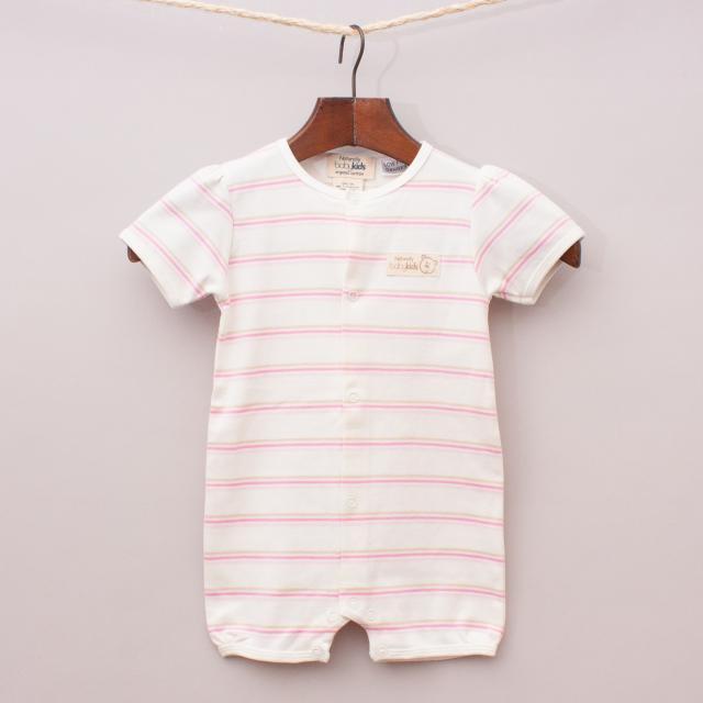 "Baby Kids Organic Cotton Striped Romper ""Brand New"""