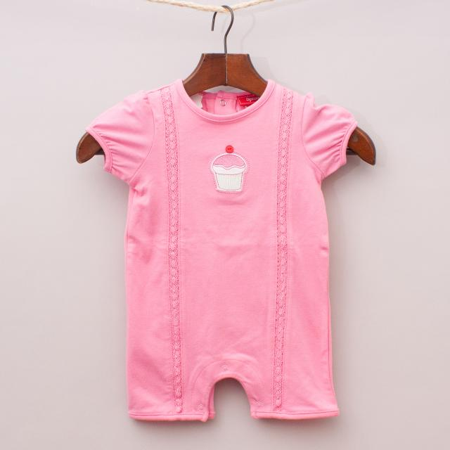 "Sprout Cupcake Romper ""Brand New"""