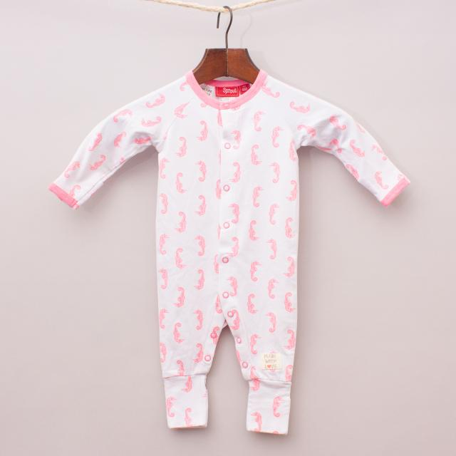 """Sprout Seahorse Romper """"Brand New"""""""