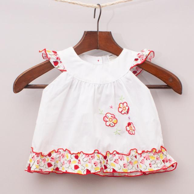Baby Friend Embroidered Top