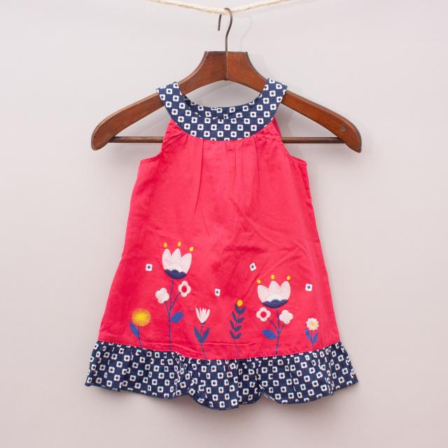 """Sprout Embroidered Dress """"Brand New"""""""