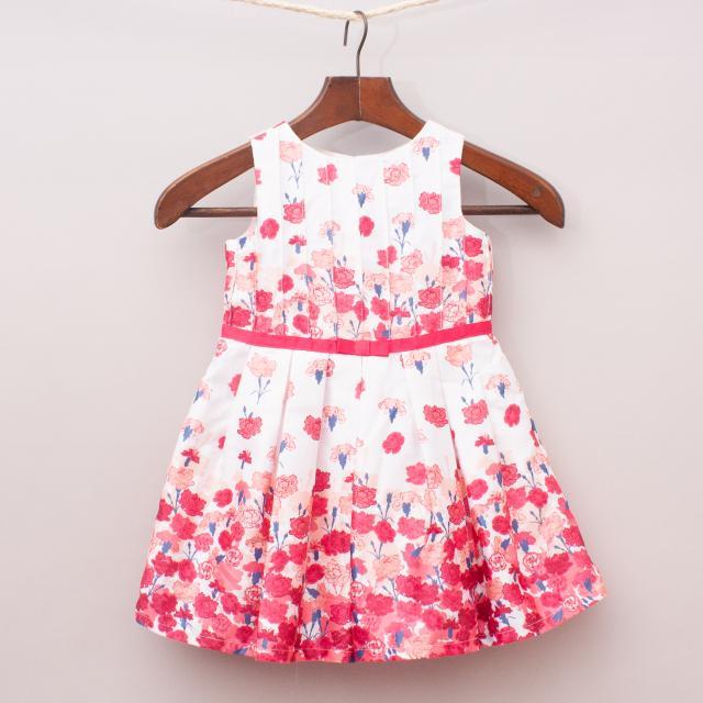 Origami Floral Dress