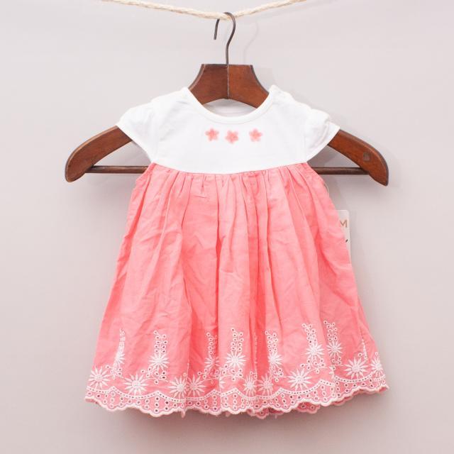 "Nutmeg Embroidered Dress ""Brand New"""
