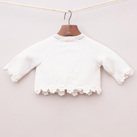 Sprout White Cardigan