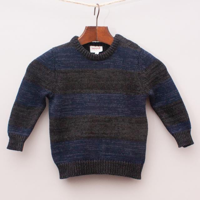 Seed Striped Knit Jumper