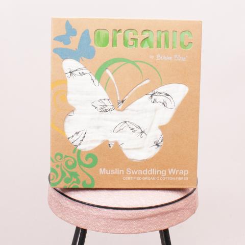 "Bubba Blue Organic Muslin Swaddling Wrap ""Brand New"""
