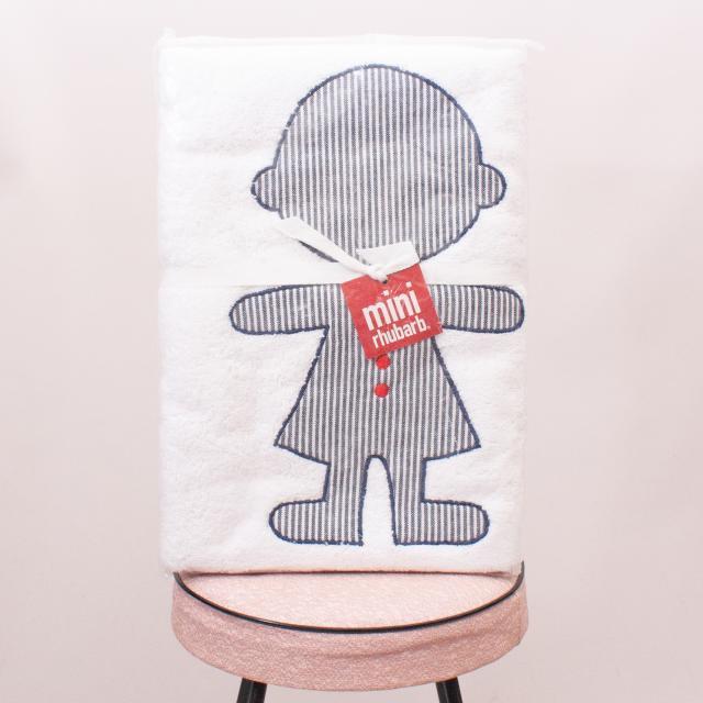 "Mini Rhubarb Embroidered Towel ""Brand New"""