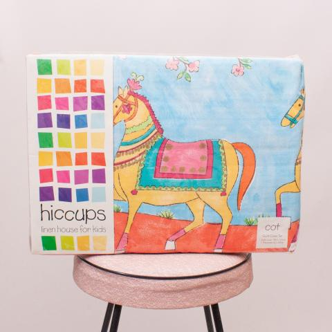 """Hiccups Cot Quilt Cover Set """"Brand New"""""""