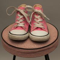 Pink Converse Lace Ups