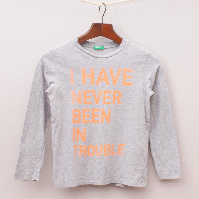 United Colours of Benetton Printed Long Sleeve