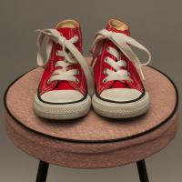 Red Converse Lace Ups