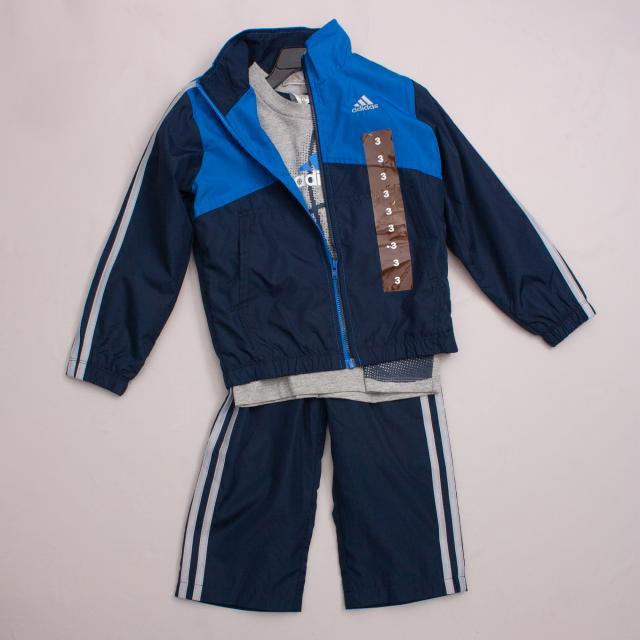 "Adidas Tracksuit & T-Shirt Set ""Brand New"""