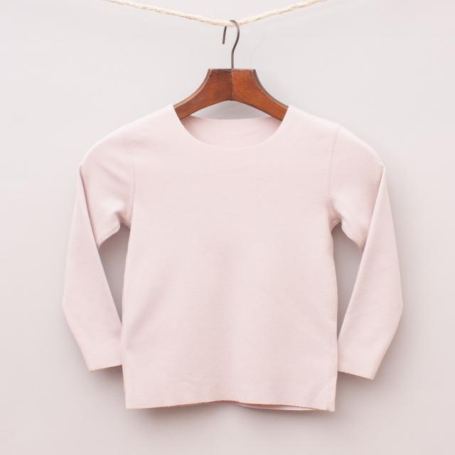 Musk Pink Long Sleeve Top