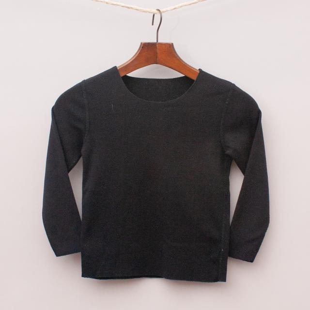 Black Long Sleeve Top