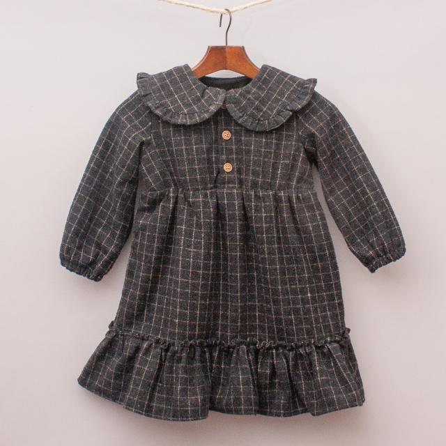 Ji Muji Qian Kids Plaid Dress