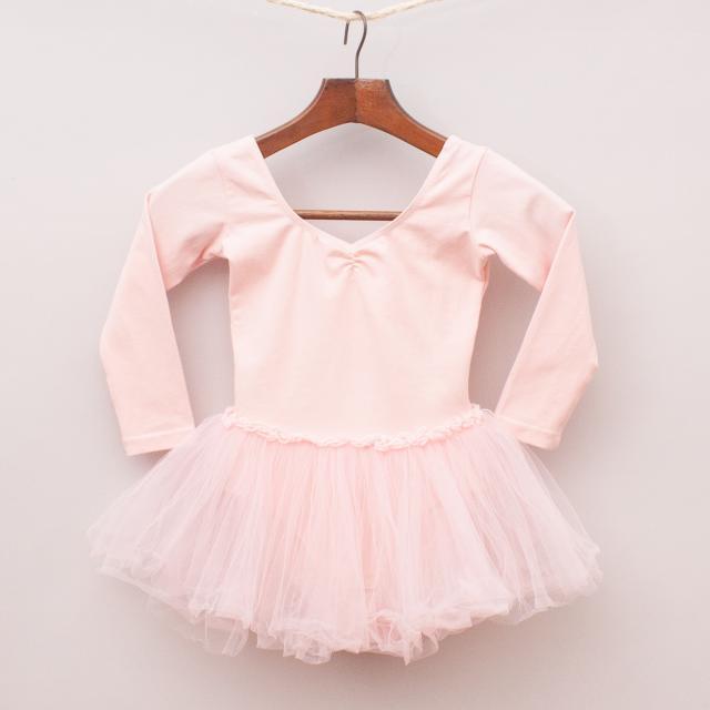 Pastel Pink Ballet Leotard & Skirt
