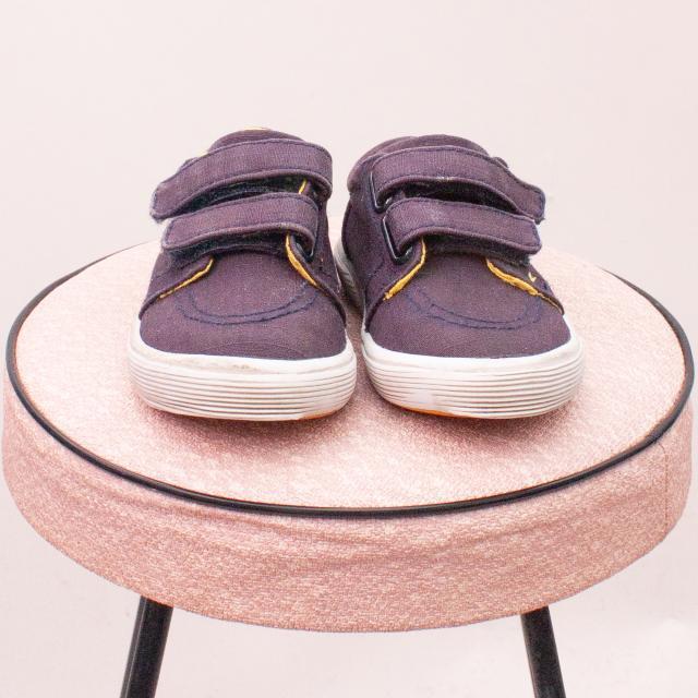 Ralph Lauren Polo Blue/Yellow Sneakers - EU 21 (0-12Mths Approx.)