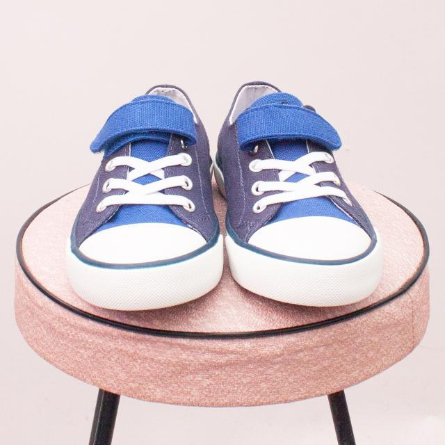 """Ralph Lauren Polo Blue & White Sneakers - EU 29 (Age 5 Approx.) """"Brand New"""""""