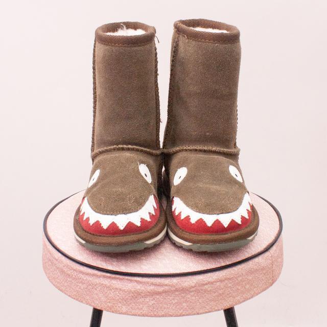 "Emu Crocodile Ugg Boots - EU 25 (Age 2 Approx.) ""Brand New"""