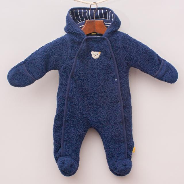 Fuzzy Blue Romper