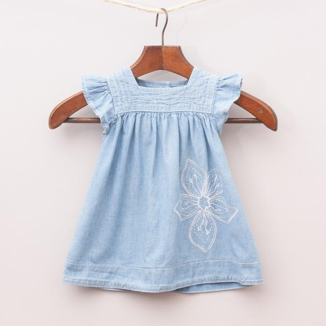 Bebe Embroidered Smock Dress