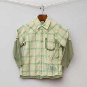 Lime Green Plaid Shirt