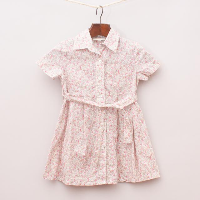 Seed Floral Shirt Dress