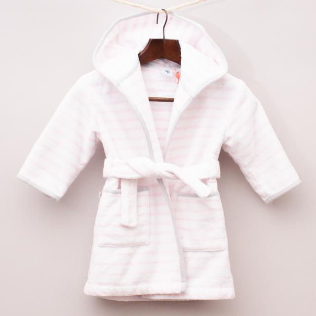 Petit Bateau Striped Dressing Gown - Size 2
