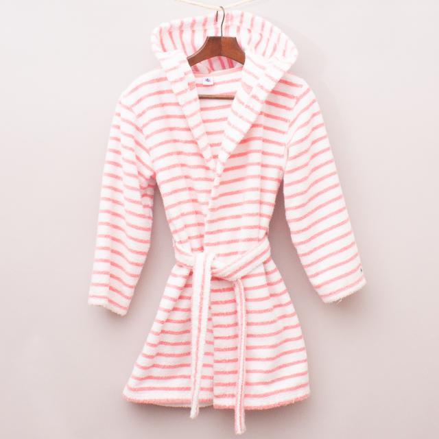 Petit Bateau Striped Dressing Gown - Size 8