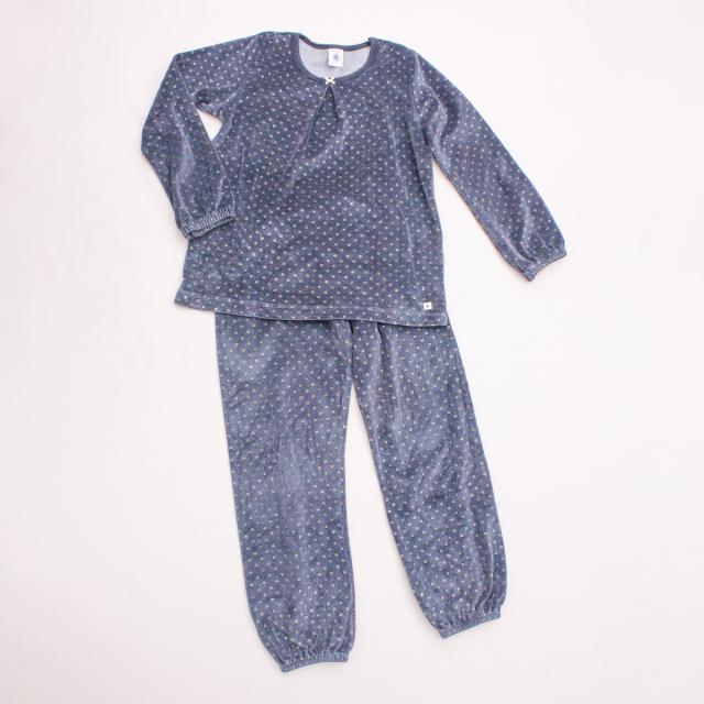 Petit Bateau Velvet Polka Dot Pyjamas