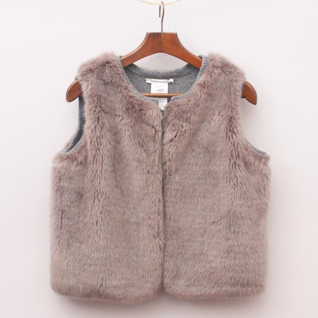 Country Road Reversible Faux Fur Vest