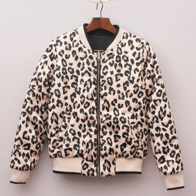 Leopard Print Reversible Jacket