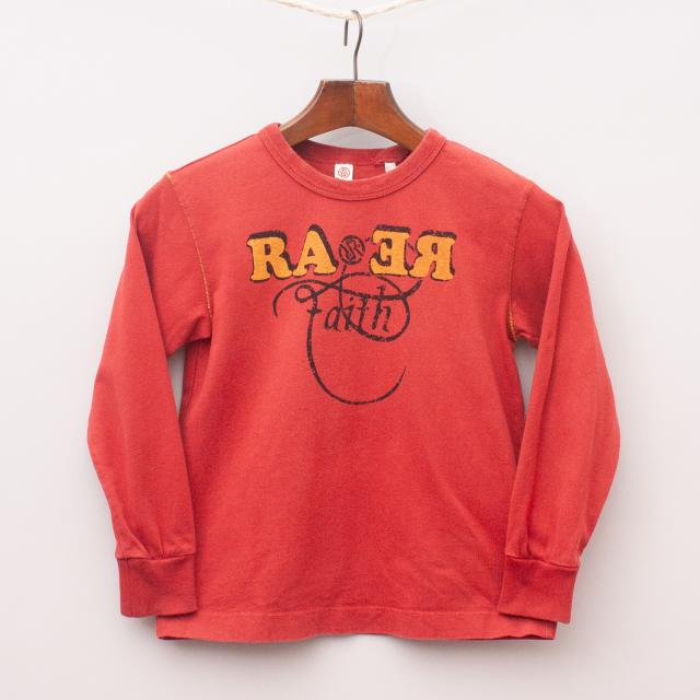 Rare Red Long Sleeve Top