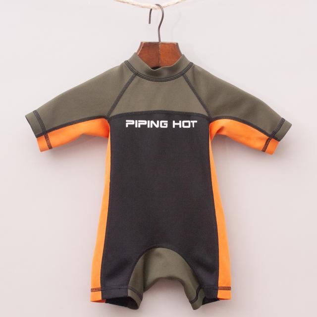 Piping Hot Swim Suit Romper